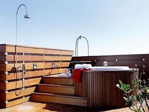 Jacuzzis de dise os y paisajismo especiales - Jacuzzi en terraza ...
