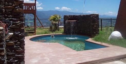 Cascadas para piscinas peque as imagui for Piscinas pequenas con cascadas