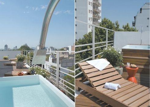Deck de madera para terrazas for Terrazas de piscinas